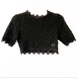 Luxxel Cropped Lace Top